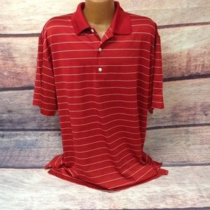 Greg norman play dry mens polo red shirt XXL